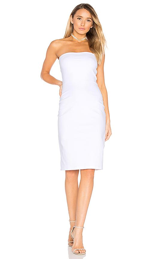 Susana Monaco Strapless Cut Out Dress In White