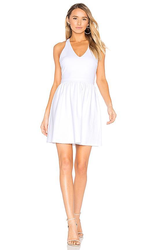 Susana Monaco Open Back V Neck Dress In White