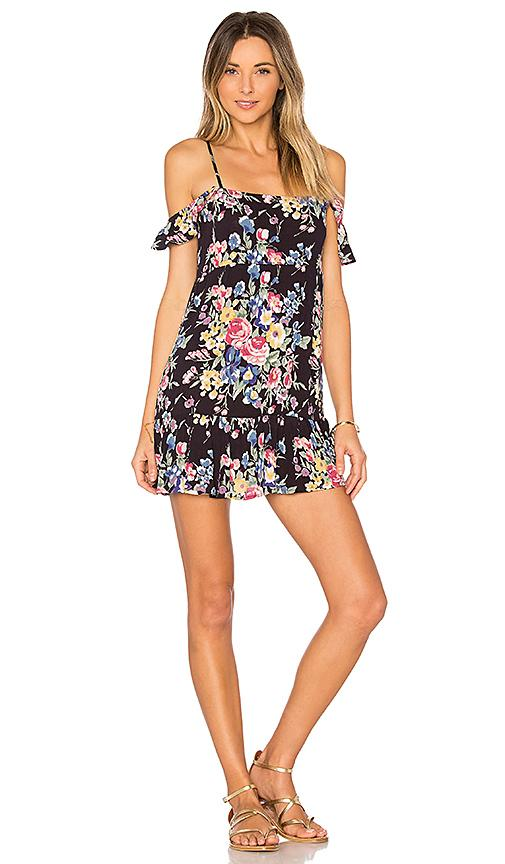 Auguste Beach House Strappy Mini Dress In Black