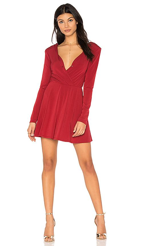 Bcbgeneration Surplice Dress In Red