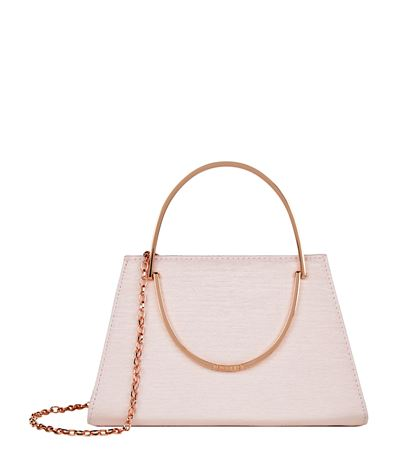 41fa78401b5688 Ted Baker Rosie Metallic Handle Evening Clutch In Light Pink