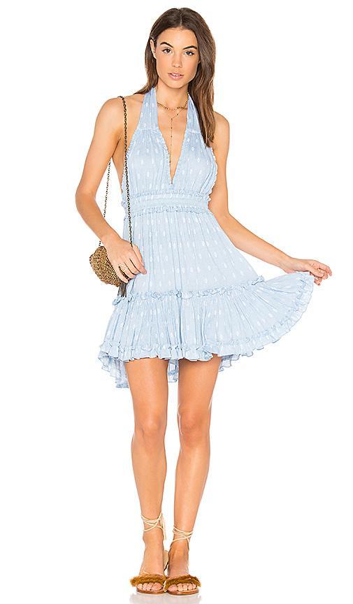 Misa Frida Dress In Blue