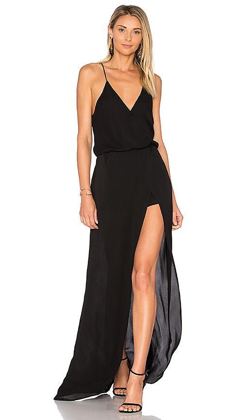 Karina Grimaldi Aculina Solid Dress In Black
