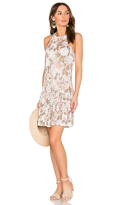 Rebecca Taylor Penelope Floral Dress In Sky Blue Combo