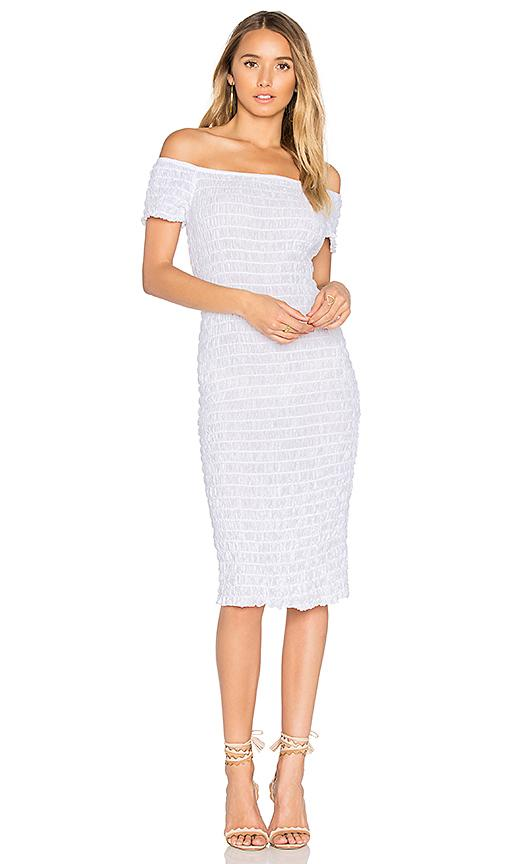 Lacausa Smocked Dress In White