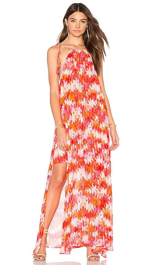 Show Me Your Mumu Rochester Maxi Dress In Hot Magma