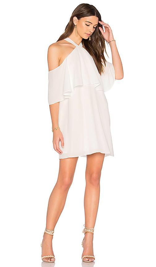 Krisa Off Shoulder Halter Dress In White