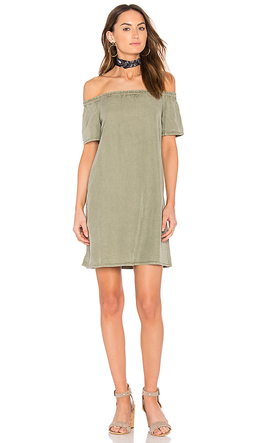 Ag The Harley Off The Shoulder Dress In Green
