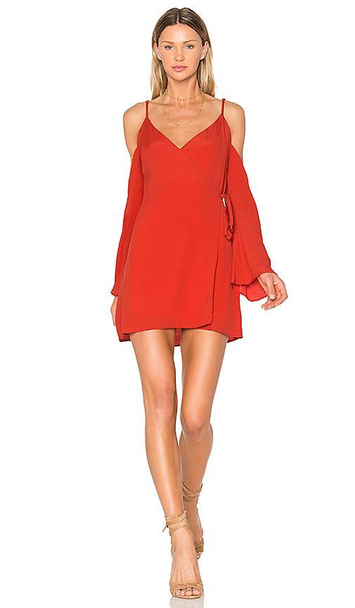 Lovers & Friends Love Letter Dress In Red