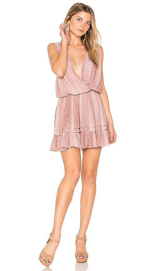 Indah Balmy Mini Dress In Pink