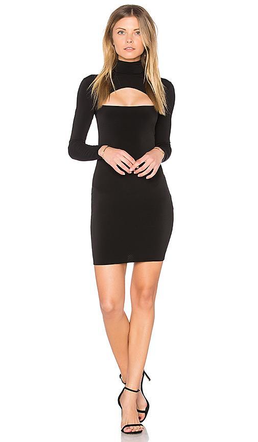 Nookie Charlize Long-sleeve Cutout Mini Dress In Black