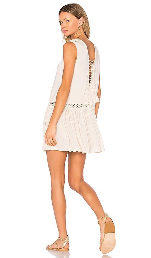 Indah Moonbeam Mini Dress In Beige