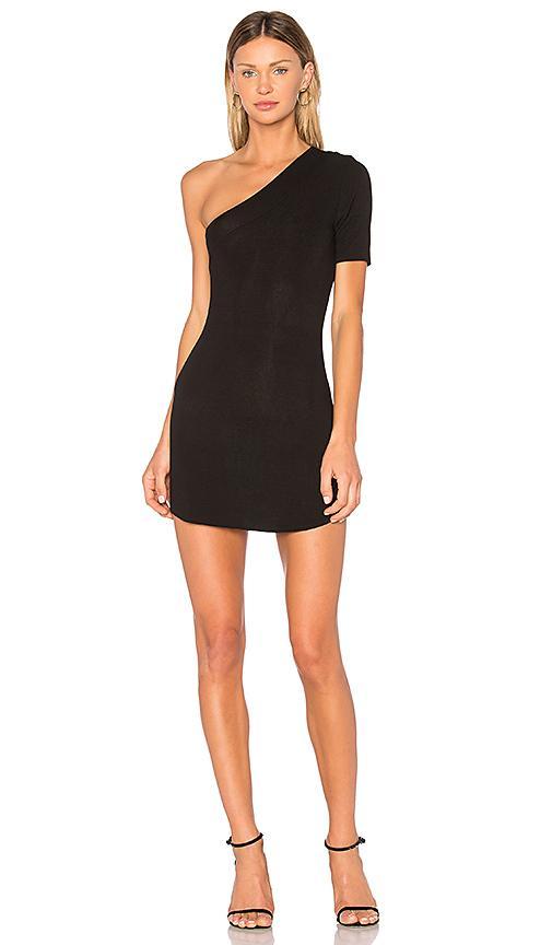 Riller & Fount X Revolve Lyle One Shoulder Dress In Black