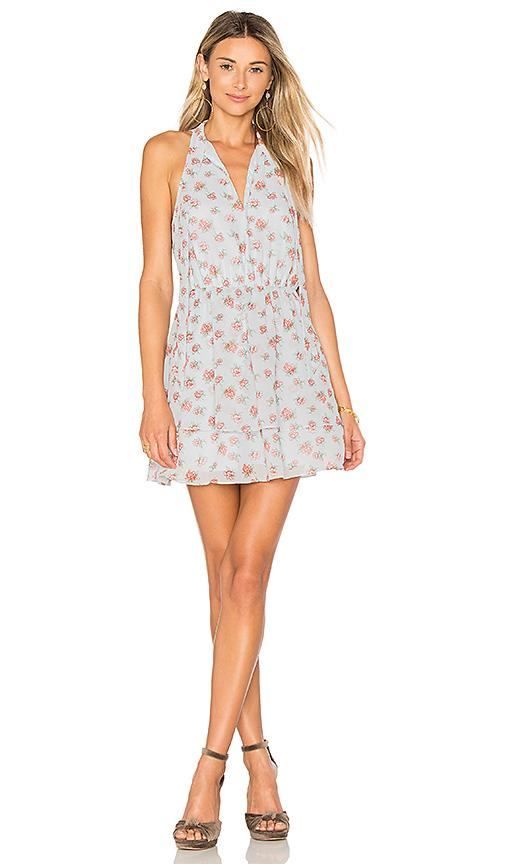 Lovers & Friends X Revolve Flower Blossom Dress In Baby Blue