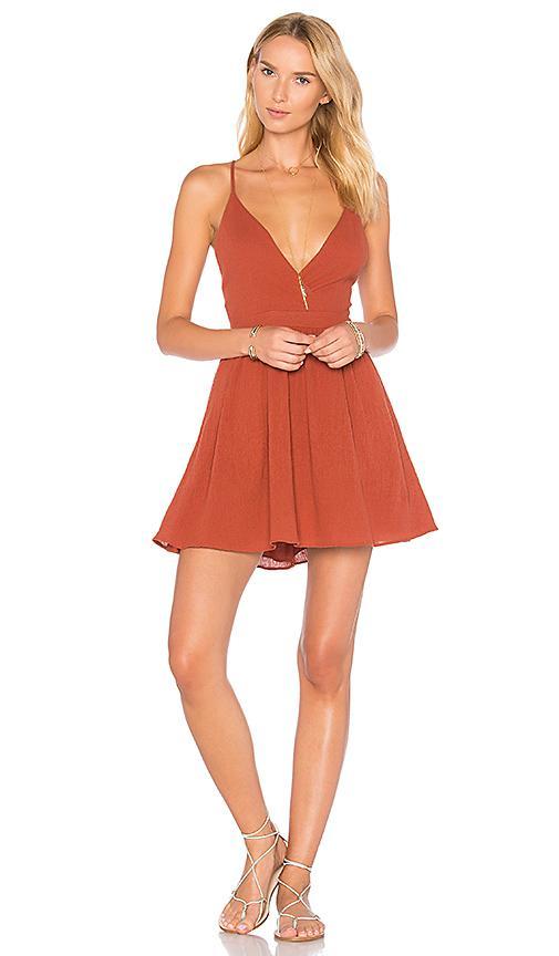 Majorelle Low Tide Dress In Rust