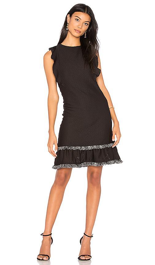 Twenty Method Ruffle Dress In Black