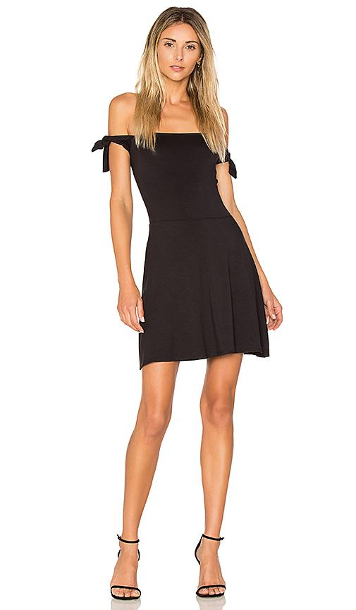 Twenty Superior Tied Shoulder Dress In Black