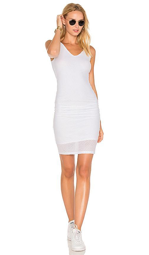 Michael Stars Mesh Midi Dress In White