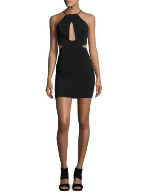 Jay Godfrey Women's Etta Cut Out Mini Dress - Black, Size 2