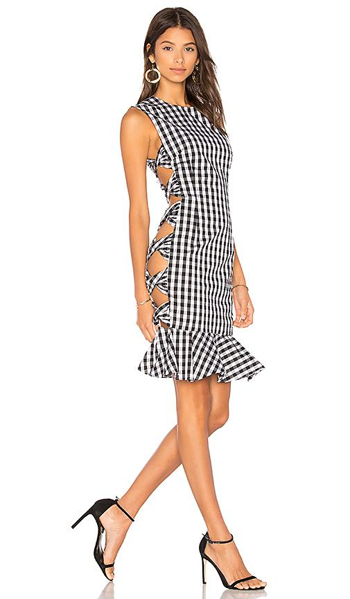 24a8605b3186e Fame And Partners X Revolve Giovana Dress In Black & White | ModeSens