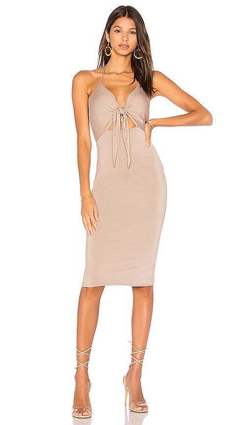 H:ours Georgina Dress In Nude