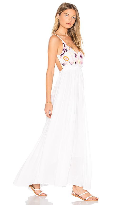 Raga Sunset Canyon Backless Maxi In White