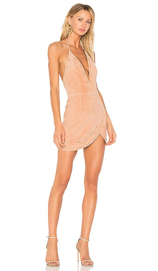 X By Nbd Charlotte Dress In Nude Baby Pink