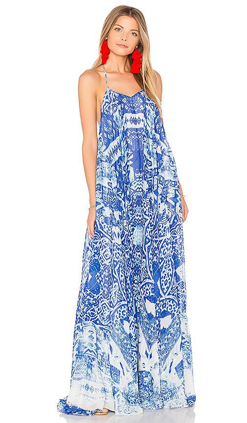 Rococo Sand Maxi Dress In Blue