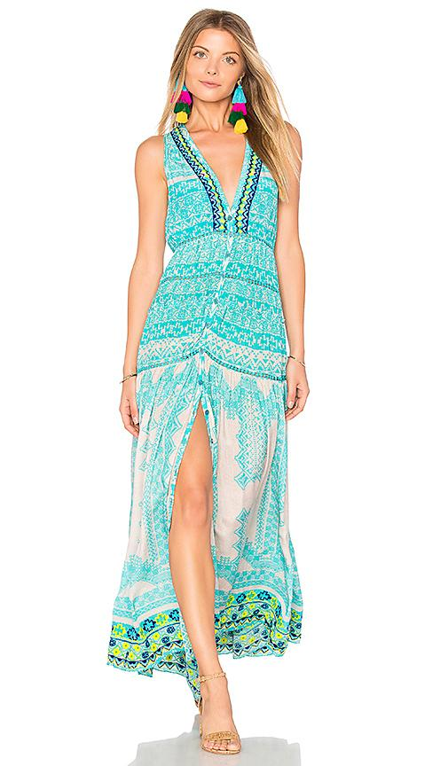 Rococo Sand Maxi Dress In Turquoise