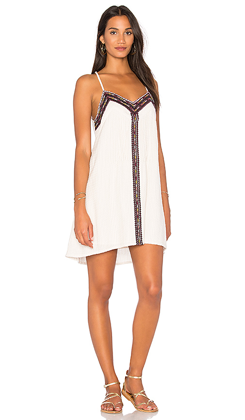 Sanctuary Maya Embroidered Cotton Slipdress In Ivory