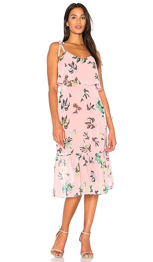 Line & Dot Riza Ruffle Dress In Pink