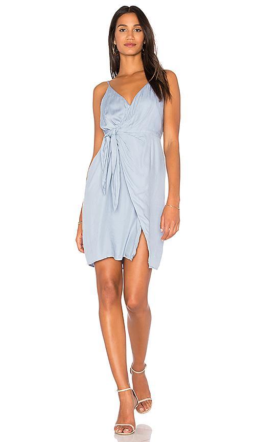 Stylestalker Imogen Wrap Dress In Baby Blue