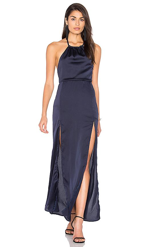 Lioness All Or Nothing Maxi Dress In Navy