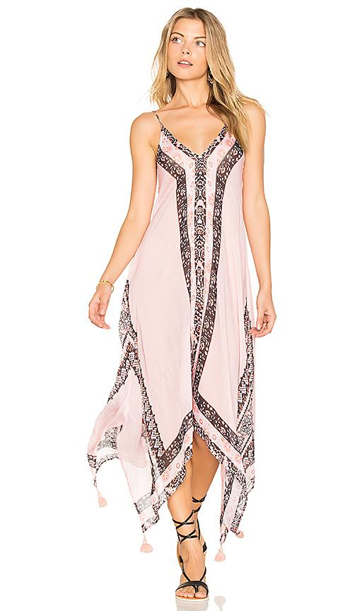 Seafolly Border Print Dress In Nude