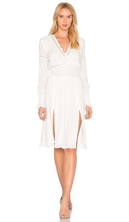 Majorelle Garnet Dress In White