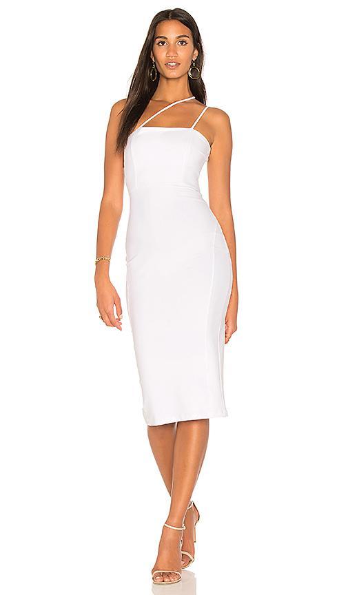 b4b96cc6251 Donna Mizani Quinn Midi Dress In White