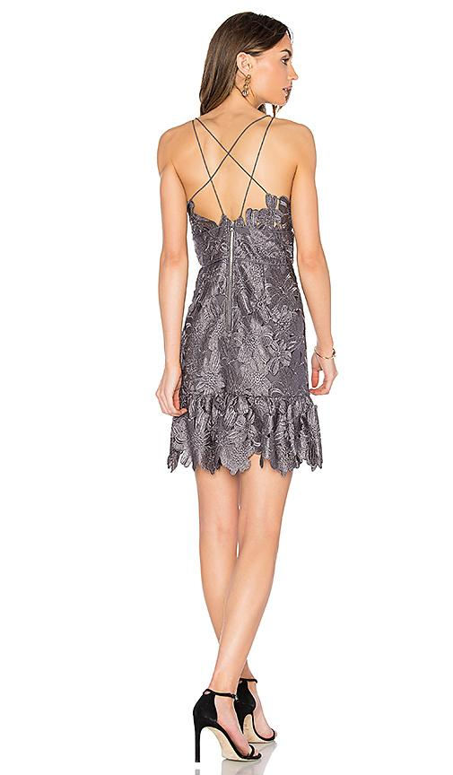Alayna Lace Dress In Gray
