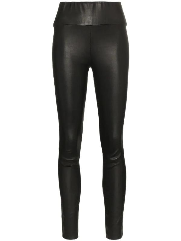 7e50253af2d41a Sprwmn Stretch-Leather Leggings In Black | ModeSens