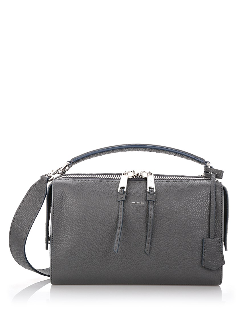 Fendi Medium Gray  Lei Selleria  Bowler Bag  6b69cf65f2d85