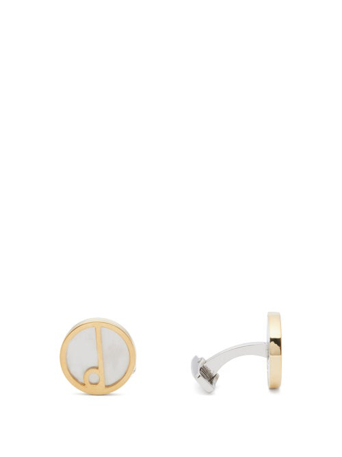 Dunhill D-series Sterling-silver And 18k Gold Cufflinks