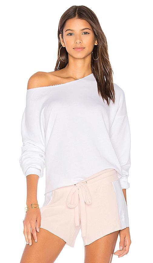 Wildfox Lounge Sweatshirt In Clean White