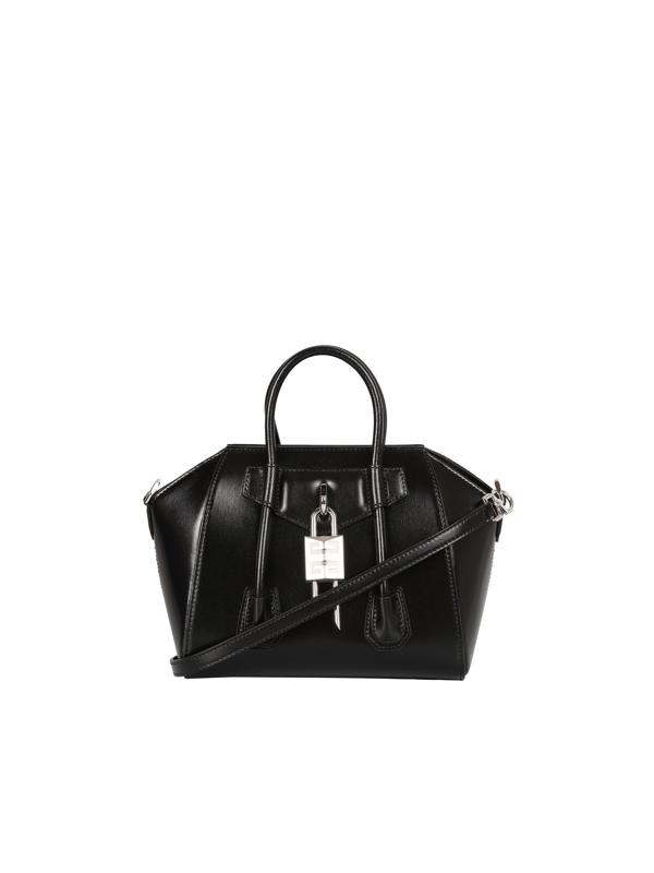 Givenchy Antigona Lock Mini Bag In Black