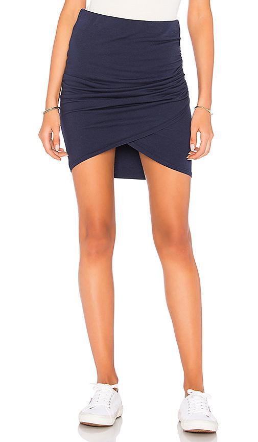 Michael Stars Cross Front Mini Skirt In Navy