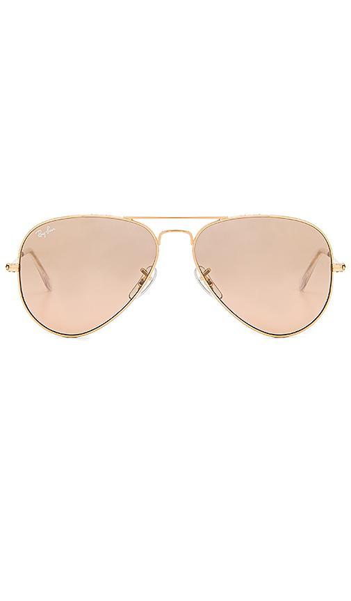 ray ban aviators gold and pink