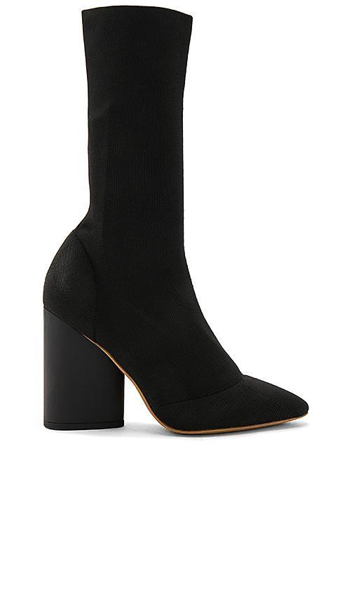 a7b817991663e Yeezy Season 4 Low Knit Calf Boot In True Onyx