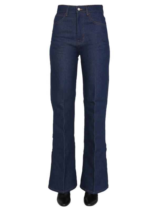 Ami Alexandre Mattiussi Flared Jeans In Blue