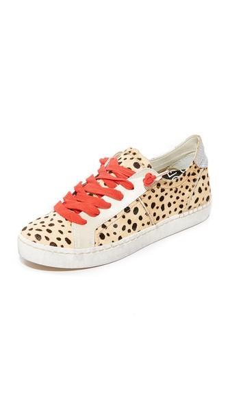 0e061f07cec9 Dolce Vita Zalen Calf Hair Lace Up Sneakers In Leopard | ModeSens