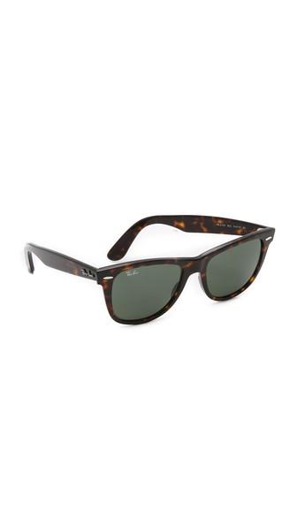 Ray Ban Rb2140 Wayfarer Outsiders Oversized Sunglasses In Tortoise/Green