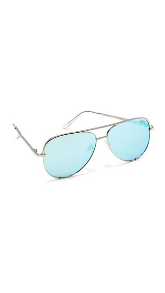 31104a833c Quay Women s High Key Mirrored Brow Bar Aviator Sunglasses
