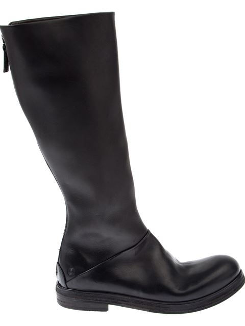 MarsÈLl Knee Length Biker Boots In Black